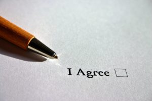"""A contract with """"I agree"""" box"""