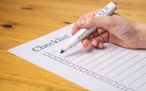 Checklist, marker