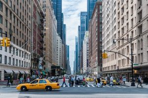 A busy street in NYC.