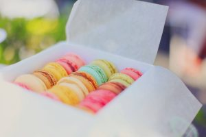 A box of macaroons.