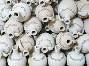 Ceramic jugs.