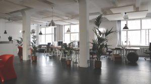 a spacious office