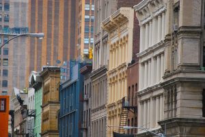 Colorful buildings making Soho one of the most famous Manhattan Neighborhoods