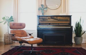 piano and a chair