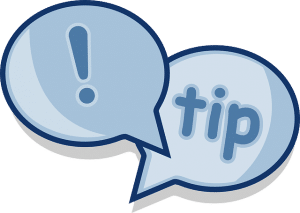 tip in a word bubble