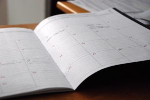 A schedule on the table
