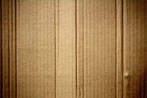 a folded cardboard