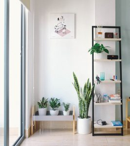 vertical shelf as a great storage solutions for small spaces
